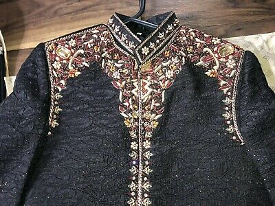 Mens Boys Asian Wedding Sherwani Occasion Wear Size S M & Size 30