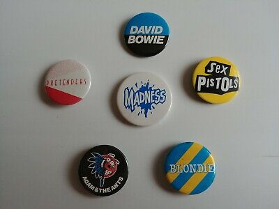 70's Pop Music Groups Bands Artists And Images 6 Original Pin Button Badges