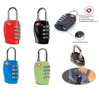 2 X TSA Approved 4 digits Dial Combination Suitcase Luggage Padlock Travel Lock