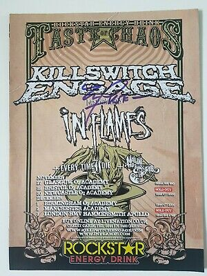 Joel Stroetzel (Killswitch Engage) Hand Signed Tour Poster - Rare - Autographed