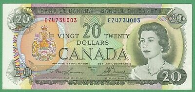1969 Bank of Canada $20 Dollar Note - Lawson/Bouey - EZ4734003 - AU
