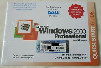 Original Package Microsoft Ms Windows 2000 Professional Disc + COA + Product Key