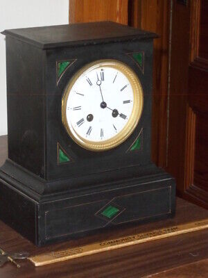 Antique Chiming Marble Mantel Clock - Bigelow, Kennard & Co - Japy Freres, Paris