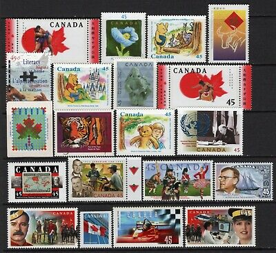 Canada 20 different 45c stamps all MNH