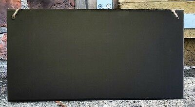 Chalkboard Shabby Chic Bevel Plaque 40cm Shaped Hanging Blackboard Memo Wedding