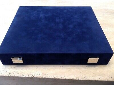 Luxury Westminster Blue Velvet Coin Collector Case Holds 36 Coins Or Capsules