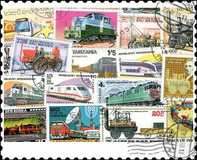 Trains Railway & Railroad : 500 Different Stamps Collection