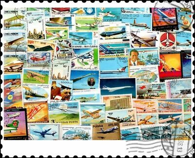 Planes, Airliners & Aircraft : 500 Different Stamps Collection