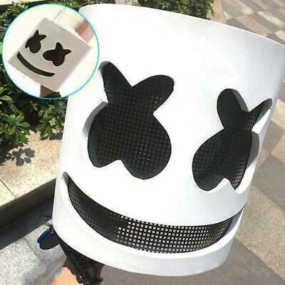 LED DJ Marshmello Mask Cosplay Mask Bar Music Props Marshmallow Full Head Helmet