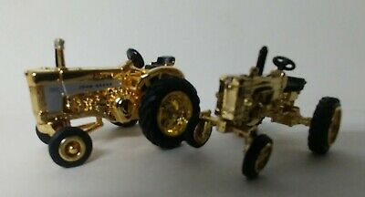 1/64 John Deere, 630, 330, Rare Gold Farm Toy Tractor Chaser Ertl 30 Series Set