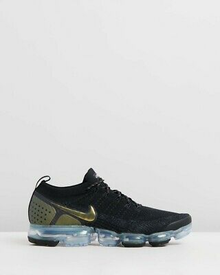 Nike Air Vapormax Flyknit 2 Black Multi-color Gold  Men's Size 10.5