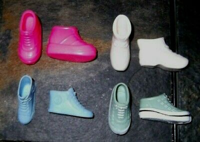 BARBIE DOLL SHOES p23 - 4 PAIRS of ASSORTED SNEAKERS