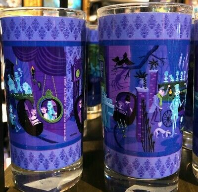 New SHAG Disney Parks Haunted Mansion 50th Anniversary 31 Ghosts Glass Cup