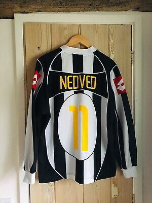 newest 06d51 6067d JUVENTUS LONG SLEEVE Home Football Jersey Seria A Champions 2002-03 Pavel  Nedved