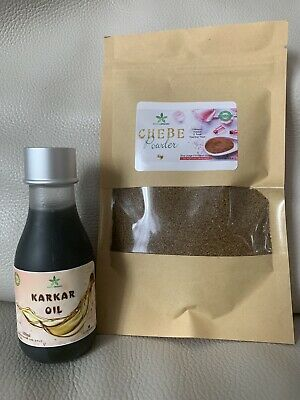 Premium Quality Organic Karkar Oil 100ml With Chebe powder from Chad 50g