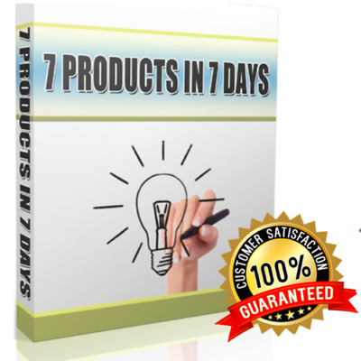 Ebook 7 Products In 7 Days Niche Social Media PDF Ebooks with E Resell Rights