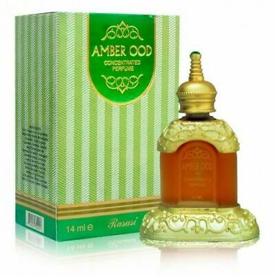 Amber Ood 14ml By Rasasi Rose Oud Amber Musk Perfume Oil / Attar