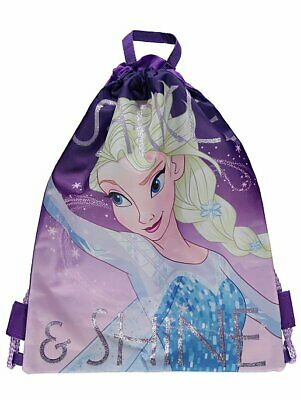 KIDS DISNEY FROZEN ANNA /& ELSA  SWIM BAG SWIMMING POOL DRAWSTRING BAG KIDS PLAY