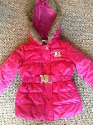 Juicy Couture baby girls pink padded coat age 18 months