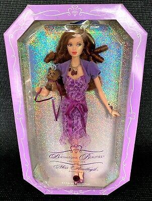 Mattel Birthstone Beauties Miss Amethyst 2007 Barbie Doll