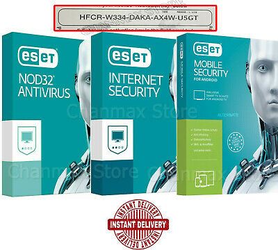 ESET NOD32 Antivirus / Internet Security / Moile Security 2019 1 2 YEAR 3 PC