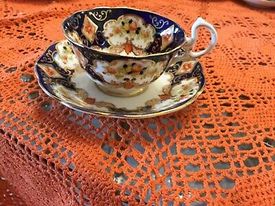 Vintage beautiful Royal Albert ribbed cup and saucer with gold trim
