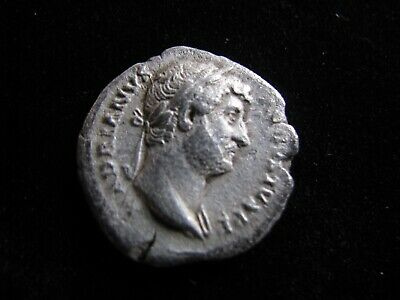 Genuine Ancient Roman Silver Denarius Coin,Emperor Hadrian,Has Excellent Detail