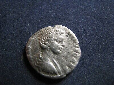 Genuine Ancient Roman Silver Denarius Coin,Geta,Sacrificial Items,Good Detail
