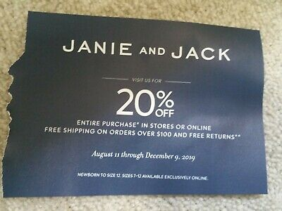 Coupon Janie and Jack: 20% off Entire Purchase **Exp 12/9/2019**