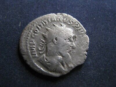 Genuine Ancient Roman Silver Antoninianus Coin,Gordian,Has Some Good Detail
