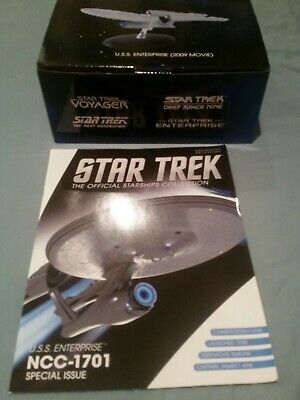 Star trek eaglemoss 2009 movie figure USS enterprise NCC-1701 with magazine