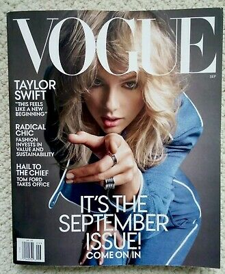 New Unread Vogue Magazine Taylor Swift Cover September Issue Free Shipping