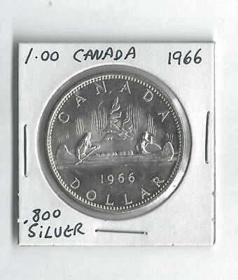 1966 Silver Dollar From Canada  Cameo