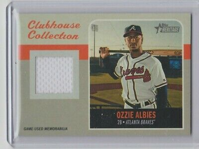 2019 Topps Heritage High Number Clubhouse Collection Ozzie Albies Relic