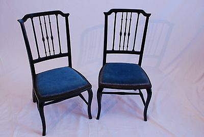Victorian bedroom chairs black ebonised 1800-1899 side chair hall chairs