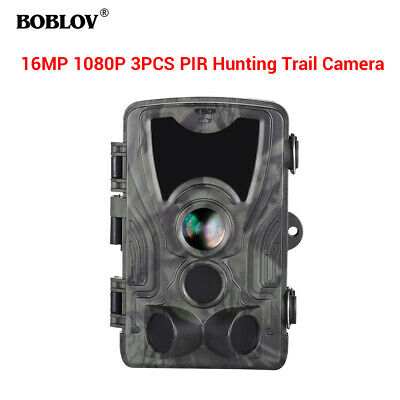 BOBLOV HC801A 16MP 1080P 120° 0.3S Waterproof Night Vision Scouting Trail Camera