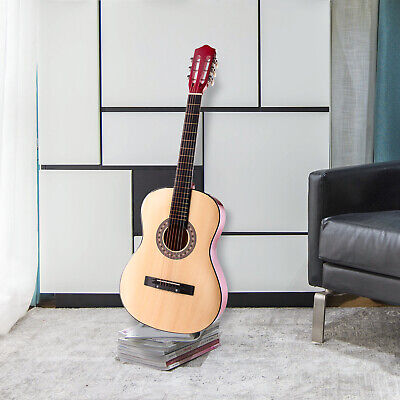 Natural Acoustic Guitar With Case, Strap, Tuner and Pick For Beginners