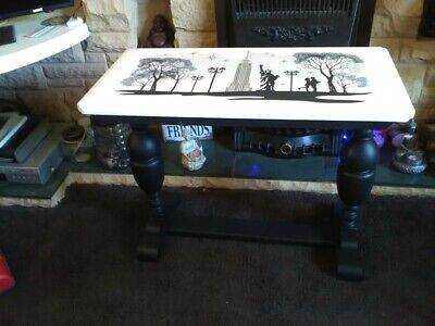Upcycled Hand Painted wooden antique occasional/ table