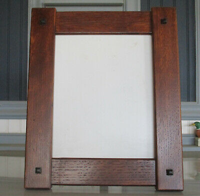 """Mission Style Arts & Crafts 8"""" X 10"""" Quartersawn White Oak Picture Frame"""
