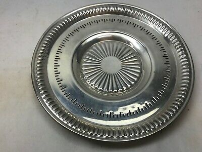 Vintage L. BROS Birks STERLING SILVER Reticulated SMALL Circular PLATTER 215g