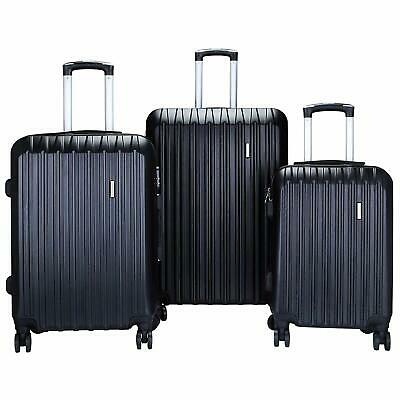 Murtisol 3 Pieces ABS Luggage Sets Hardside Spinner Lightweight Durable Suitcase