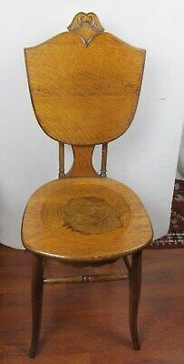 RARE Antique Vintage Solid Oak Wood chair wrinting table convertible chair