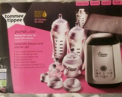 New Tommee Tippee 522630 Pump and Go Complete Breast Milk Starter Set RETAIL $99