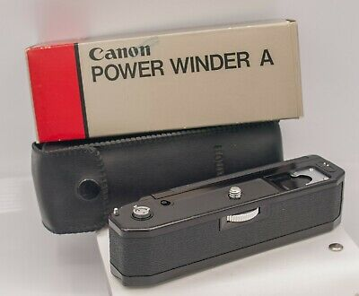 Boxed - Canon Power Winder A Motor Drive For A-1 AE-1 AV-1 SLR Cameras
