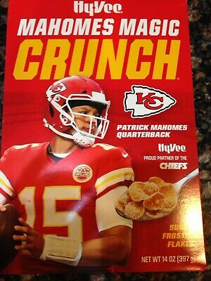 KC Chiefs Patrick Mahomes II Magic Crunch Cereal LIMITED COLLECTOR Box NEW