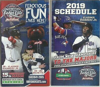 2018 & 2019 New Hampshire Fisher Cats Schedule Vladimir Guerrero Jr. Bo Bichette