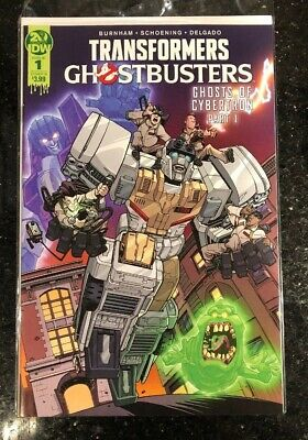 TRANSFORMERS GHOSTBUSTERS #1 Cover B IDW Comics Ghost of Cybertron 1B 2019