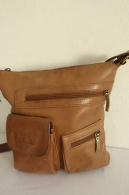 Boho Distressed COLORADO Tan Leather Shoulder Cross Body Bag