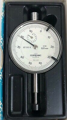 Compac Geneve Precision Dial Indicator Jet 512 K 0.01 mm Swiss Made