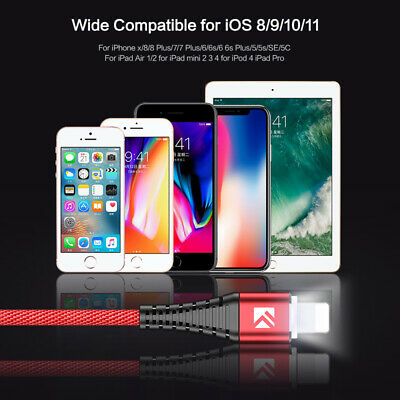 FLOVEME Lightning USB Charger Cable Sync Data Charging For Apple iPhone Pad IOS